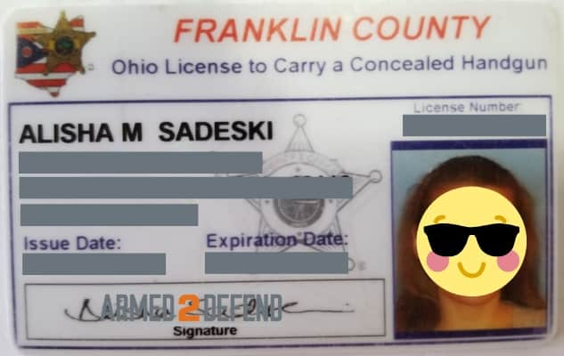Photo of Ohio concealed carry (CCW, CHL) license